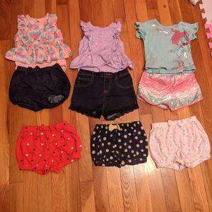 18 months girls summer outfit lot